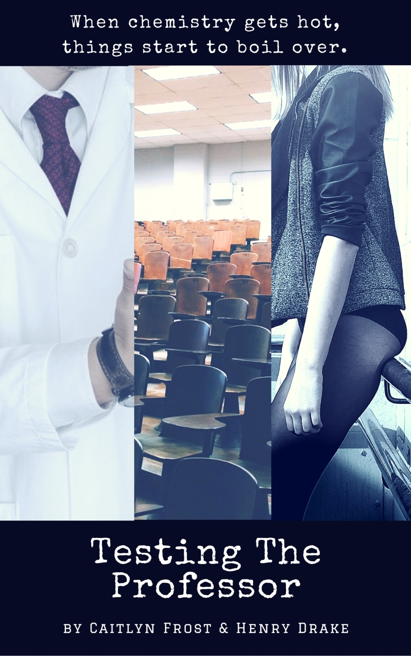 Cover image featuring a man in a labcoat, a girl in a leather jacket, and a lecture hall